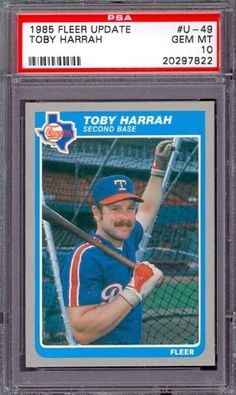 1985 Fleer Update #U-49 Toby Harrah Rangers PSA 10 pop 4 by Fleer. $6.00. 1985 Fleer Update #U-49 Toby Harrah Rangers PSA 10 pop 4. If multiple items appear in the image, the item you are purchasing is the one described in the title.