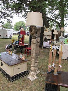 Porch Post Floor Lamps by barntrash, via Flickr