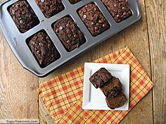 Mini Whole Wheat Chocolate Pumpkin Breads: No Sugar Added