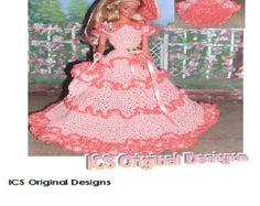 Crochet moda muñeca Barbie patrón 27 PEEKABOO melocotón