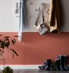 Painting a wall two colours is perfect for creating a statement - and when you cant decide on a shade. Our Do It In A Day guide has all the tips for you to get the job started in the morning and wrapped up in time for dinner. Fold Away Desk, Stair Basket, Led Step Lights, Small Tiles, Romantic Homes, Downlights, Decorating Your Home, Hallway Decorating, How To Look Pretty