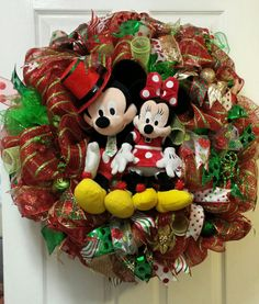 Disney Inspired Christmas Theme Wreath $250...(SOLD)