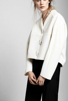 Proenza Schouler. This boxy jacket has such a modern structure. Love it in white. Xo, LisaPriceInc.