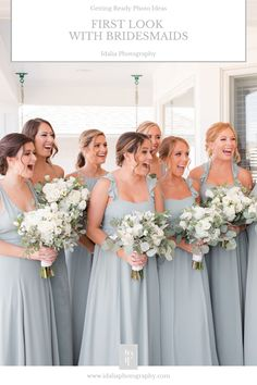 first look with bridesmaids on wedding day | Getting ready photo ideas from NJ wedding photographer Idalia Photography. #BridesmaidsFirstLook #NJWedding #GettingReady Bridesmaid Robes, Bridesmaids, Wedding Gallery, Wedding Photos, Wedding Attire, Wedding Gowns, Wedding Morning, Bridesmaid Getting Ready, Bridal Parties