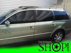 VW Passat Green Wagon Window Tinting by The Spokane Shop