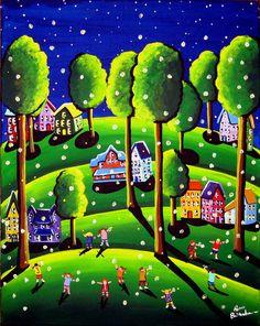 Kids Catch Fireflies by Renie Britenbucher