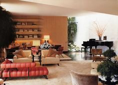 William Haines Hollywood Regency design was about low slung furniture and luxe texture.