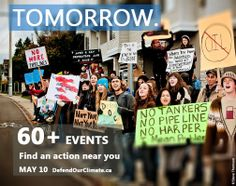 Tomorrow, join one of 60 events all across Canada to Defend our Climate!