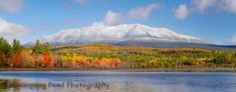 Fall to Winter over Mt. Katahdin by Dale with Massapoag Pond Photography