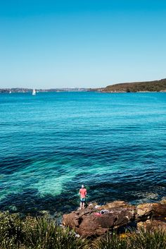 Visit Australia! Taking in the beautiful view at Manly Beach. - Photography by Melinda DiOrio