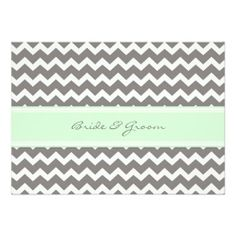 Wedding Invitations Grey Mint Chevron http://www.zazzle.com/wedding_invitations_grey_mint_chevron-161458489048794599?rf=238282136580680600