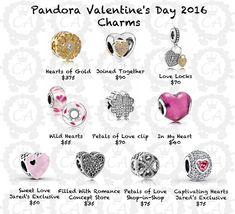 Pandora Valentine's Day 2016 Charms