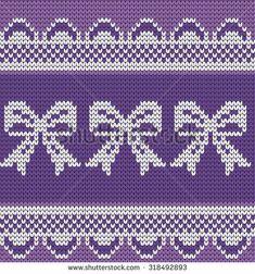 knitted seamless pattern bows: купите это векторное изображение на Shutterstock и найдите другие изображения.