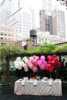 ombre balloons: