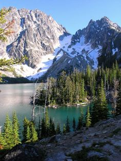 Location  Colchuck Lake WA. Central Cascades -- Leavenworth Area  Wenatchee - Okanogan National Forest