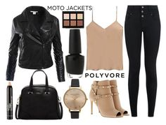 """moto jackets"" by j-n-a ❤ liked on Polyvore featuring Sans Souci, Valentino, New Look, Olivia Burton, Etro, OPI, Anastasia Beverly Hills, Furla, NYX and motojackets"
