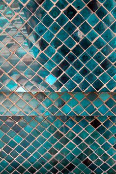 Mosaic tile sparkle and shine teal blue shimmer by diemdesign