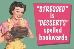 Stressed is Desserts Spelled Backwards Funny Plastic Sign Wall sign at AllPosters.com