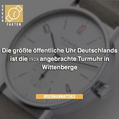 Die größte öffentliche Uhr Deutschlands ist die 1928 am Wasserturm des Nähmaschinenwerks #Wittenberge angebrachte Turmuhr. Der Durchmesser beträgt 757 Meter der Minutenzeiger ist 303 Meter lang und der Stundenzeiger 225 Meter lang.    #Armbanduhr #Armbanduhren #Damenuhr #Damenuhren #Herrenuhr #Herrenuhren #Armband #Armbänder #Uhren #Uhrenliebe #Uhrenverrückt #Uhr #Angebot #Geschenkideen #Geschenk #Österreich #Deutschland #Luxusuhr #Luxusuhren #Neueuhr #Fashionblogger_de #Modeblogger_de… George Daniel, Film, Chronometer, Hamilton, Omega Watch, Luxury Watches, Things To Do, Wrist Watches, Winning Numbers