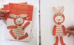 Nicolás rabbit, articulated paper animal