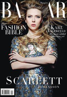 Photoshoot: Scarlett Johansson, Soo Joo Park, Lily Donaldson for Harper's Bazaar Australia September 2013