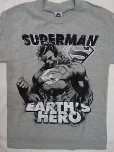 Superman The Man Of Steel Earth's Hero Dc Comics T-Shirt S Small #DCComics…