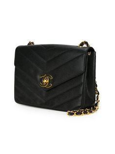 Chanel Vintage V-stitched Crossbody Bag - Amore - Farfetch.com V Stitch ac279fe83475a
