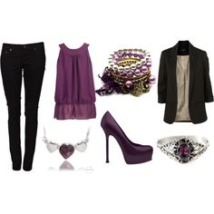 Purple & Black by irishchick11, via Polyvore