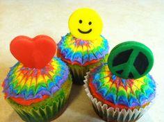 Groovy cupcakes