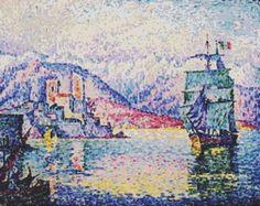 Port Of Antibes Cross Stitch Pattern by Avalon Cross Stitch on Etsy