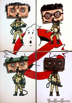 Video Home Saviors by NMPM. Quadriptych using vintage VHS tape.  #ghostbusters #ghost #quadriptych #petervenkmann #billMurray #raystantz #danaykroyd #egonspengler #haroldramis #winstonzeddmore #erniehudson #comedy #cultmovie #cultfilm #80s #sciencefiction #movieicons #videostore #videoclub #vhsart #VHS #videotape #Sculpture, #wallsculpture #art #contemporaryart #artcontemporain #cinema #artist #nmpm