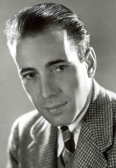 "Humphrey  Bogart (1899 - 1957) Movie icon, starred in ""Casablanca"", ""To Have and Have Not"", ""The African Queen"" and many other movies"