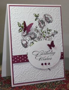 WT316 Stylish Floral Birthday by CAKath - Cards and Paper Crafts at Splitcoaststampers
