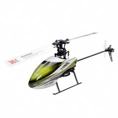 XK K100 Mini 2.4GHz 6CH RC Helicopter - Green