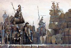 The Trojan characters from the Iliad - art by José Daniel Cabrera Peña & Rocío Espín Piñar