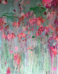 ...abstract art by sonja blaess...petit jardin...2016...