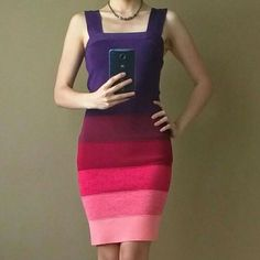 HPExpress Ombre Stripe Knit Bandage Dress Host Pick for 1-21-15: Supermodel Style Party. Incredibly sexy Express body con ombre dress. Hugs your body and accentuates your curves! Worn once and in flawless condition. Express Dresses