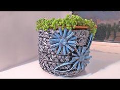 Кашпо для цветов из пластиковой бутылки - YouTube