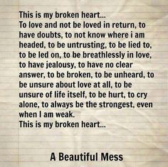 the piece of paper i used to write the words expressing my broken heart, was thrown in the trash. Quotes About Love And Relationships, Life Quotes Love, Sad Quotes, Girl Quotes, Quotes To Live By, Inspirational Quotes, Daily Quotes, Relationship Quotes, You Broke My Heart