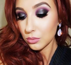 Purple smokey eyeshadow