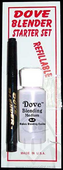 Refillable Dove Blender Starter Kit Pen/Blending Medium/Nibs