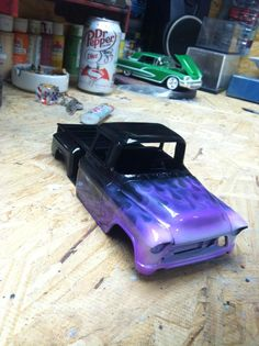 Can't go wrong with some flames! Custom Hot Wheels, Custom Cars, Military Jeep, Military Vehicles, Chevy Vehicles, Model Cars Building, Rc Cars And Trucks, Plastic Model Cars, Model Cars Kits