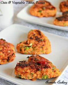 Aromatic Cooking: Oats & Vegetable Tikkis, Patties