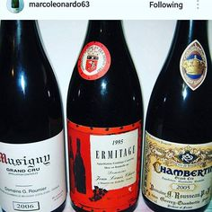These are bottles perfect for our museum... Come to us in #Brooklyn !! Thanks @marcoleonardo63 #GrandCru #Wine #Ermitage