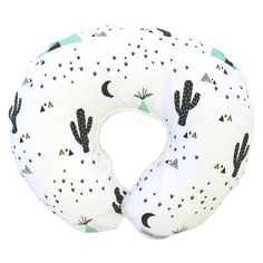 This collection features a trendy southwestern print with teepees & cacti in mint, black & white. This baby bedding is perfect for any modern baby boy nursery!