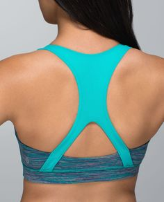 LuluLemon: We designed this light-support, medium-coverage bra to keep our ladies on lockdown for the count. Cottony-soft, sweat-wicking fabric and a racerback cut fit like a second skin so we stay supported from our first rep to our final stretch.