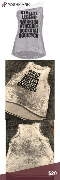 Soulcycle Burnout Tank Re-Posh, I just didn't like the way it looked on me. Thin and soft burnout tank, size medium. Brand for exposure. lululemon athletica Tops Tank Tops