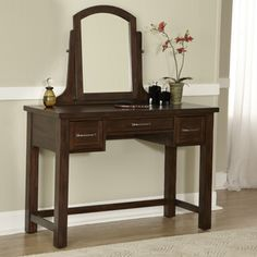 Cabin Creek Vanity and Mirror | Overstock.com Shopping - The Best Prices on Bedroom Mirrors