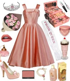 archetype from marina's electra heart album! Discover outfit ideas for school made with the shoplook outfit maker. How to wear ideas for pink perfume and Prom queen sash Queen Aesthetic, Classy Aesthetic, Aesthetic Clothes, 2000s Fashion, Retro Fashion, Girl Fashion, New Outfits, Cute Outfits, Fashion Outfits