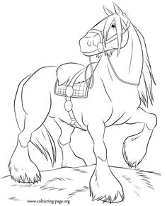 Have fun coloring Angus! He is Merida's horse and also her best friend! A beautiful coloring page from the Brave movie!